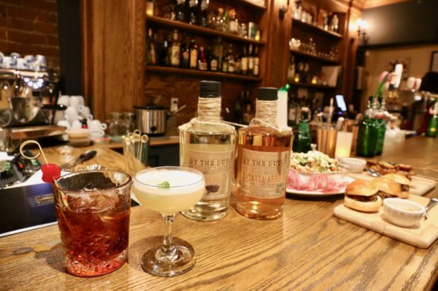 Dutch and Indonesian inspired cocktails at the Borrel restaurant's bar.