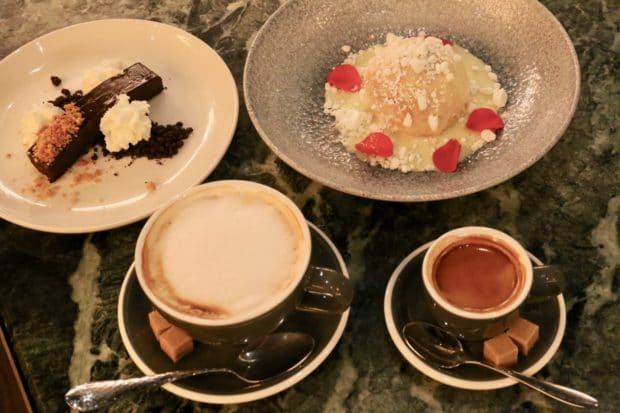 Coffee and desserts at COC Toronto.