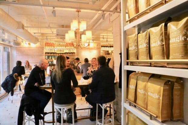 Step inside Coffee Oysters Champagne Toronto.