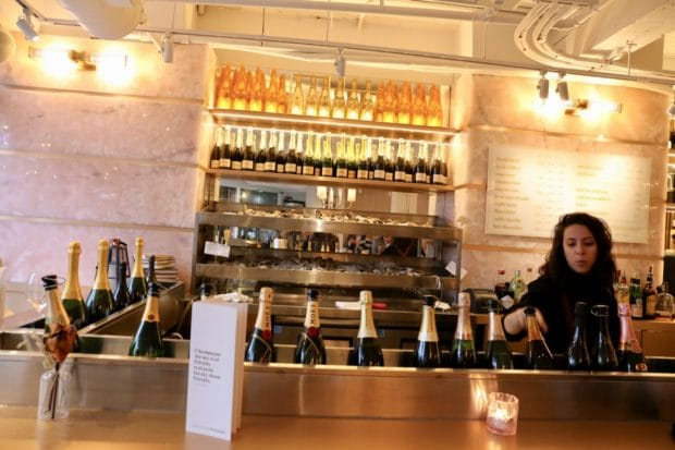 The oyster and champagne bar at COC Toronto.