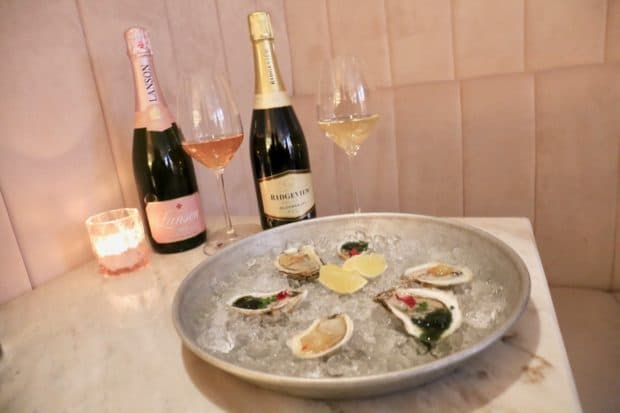 Oysters and champagne at COC Toronto.