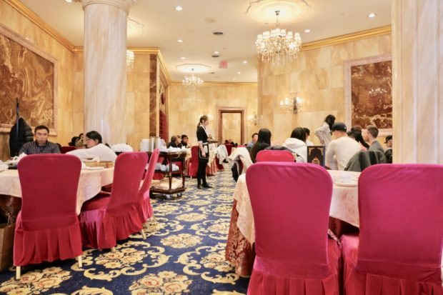 The dim sum dining room at Crown Princess Toronto.