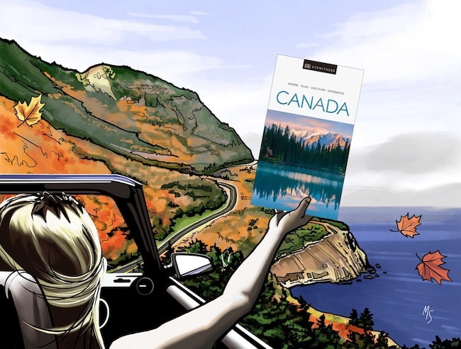 DK's Eyewitness Travel Canada Guide is a perfect Canadian road trip companion.