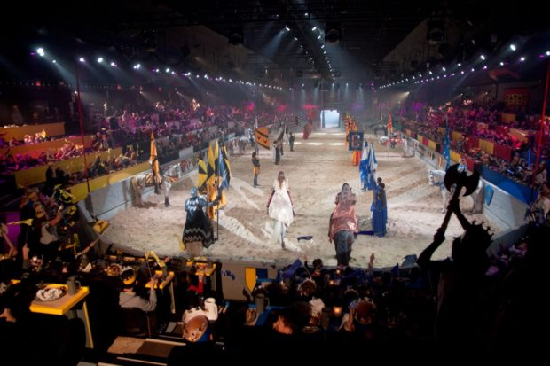 The jousting arena at Medieval Times Toronto.