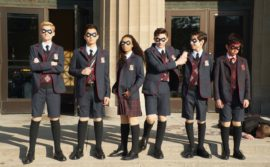 The Umbrella Academy on Netflix shares the story of a dysfunctional superhero family.