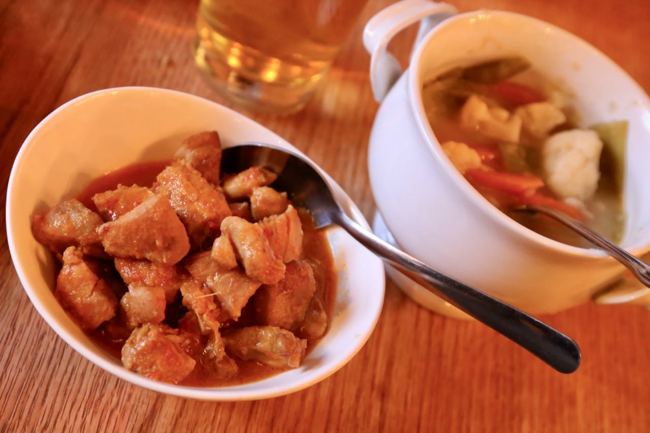 Toronto Indonesian Restaurant serves coconut chicken and vegetable curry at monthly Rijstaffel.