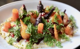 Carrot and beet salad at Buca Yorkville.