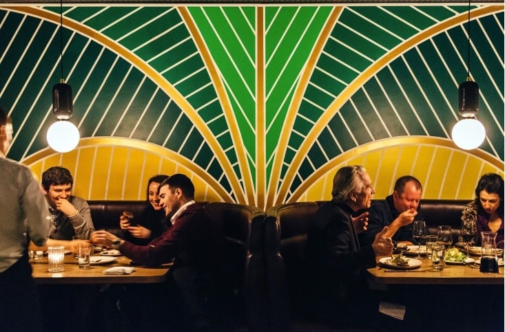 Ossington Restaurants: The artful backdrop at La Banane complements the French bistro fare.