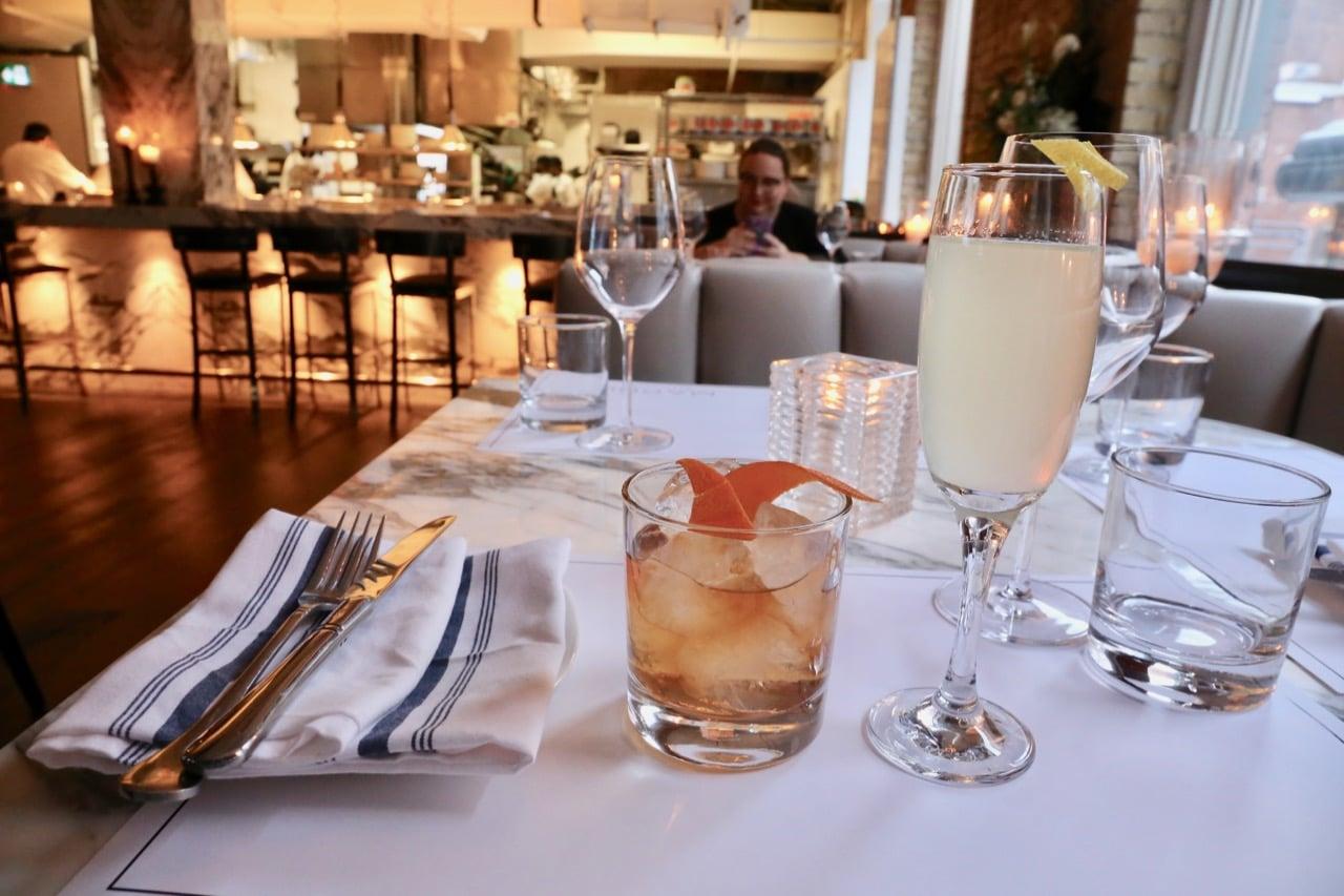 Cocktails at Marbl restaurant.