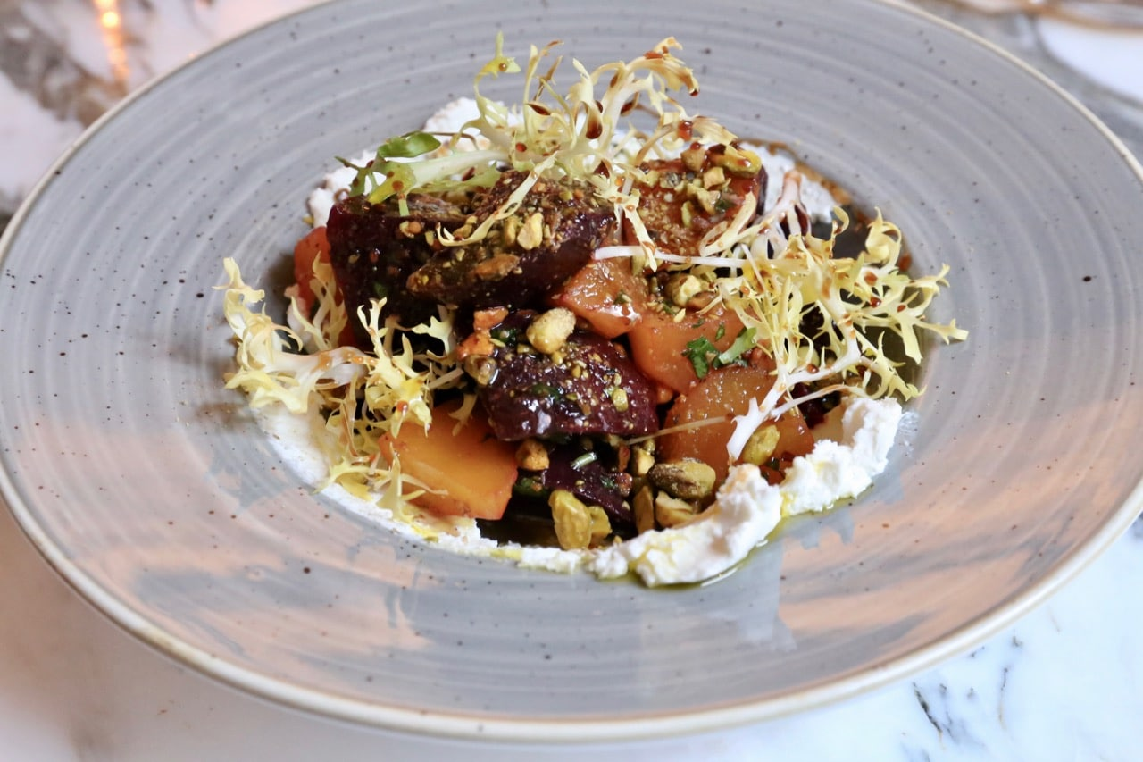 Beet salad at Marbl on King West.