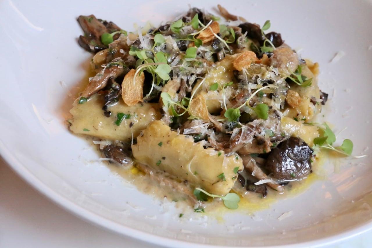 Pasta at Marbl restaurant.