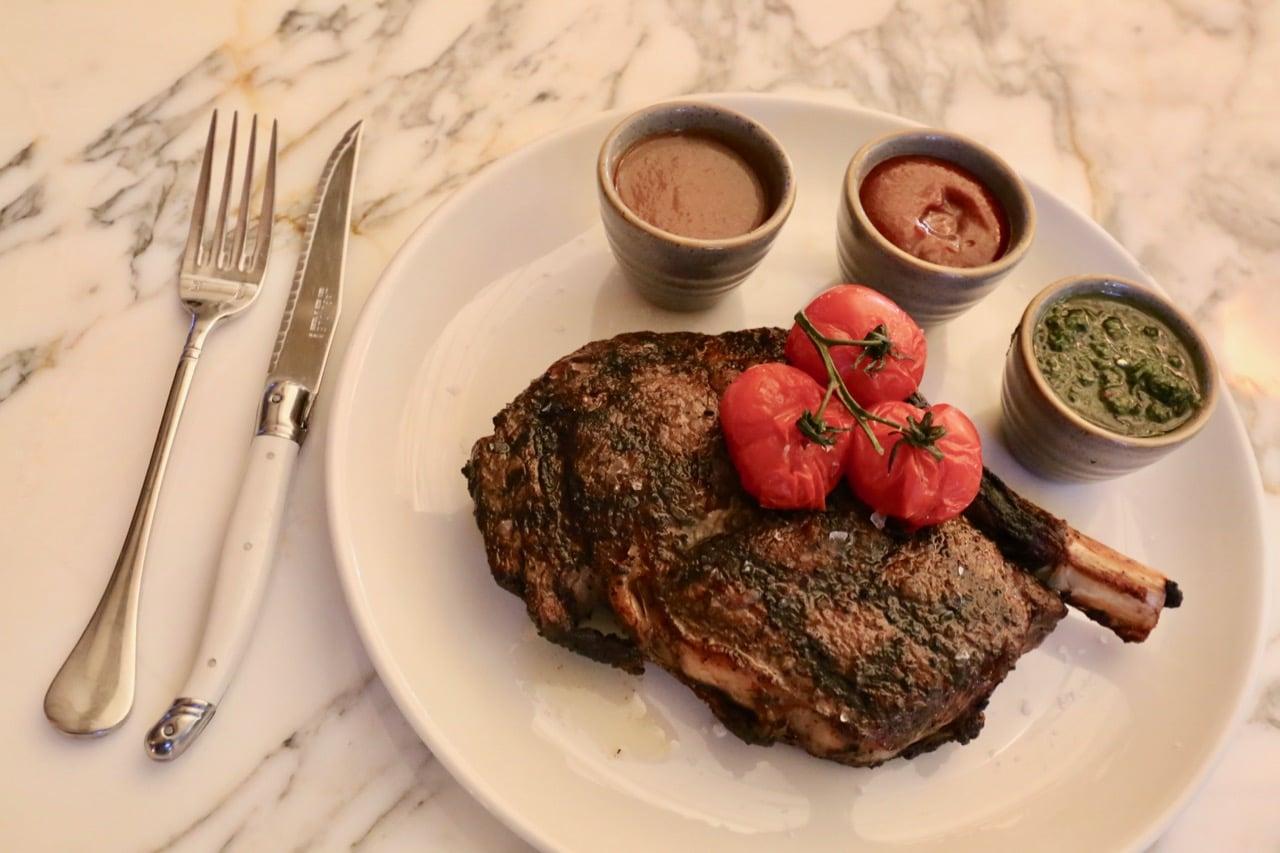 Steak at Marbl restaurant toronto.