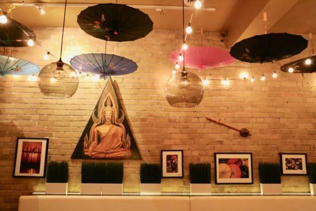 Chang Mai dining room at Mengrai Thai in Toronto.