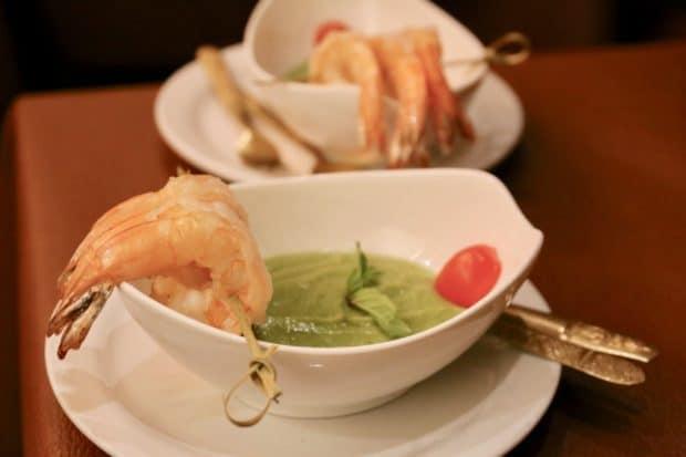 Green Goddess Avocado Shrimp at Mengrai Thai.