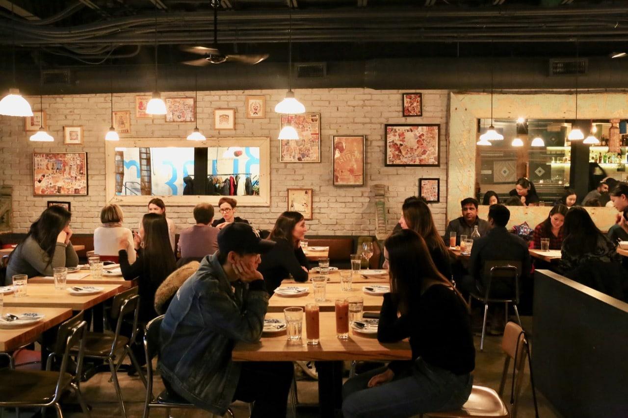 The funky dining room at Sabai Sabai Toronto.