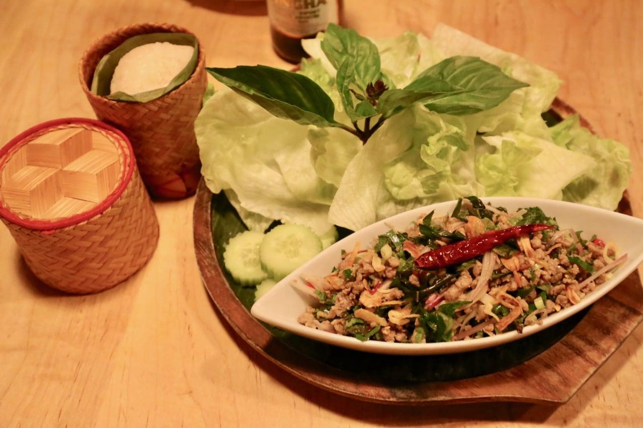 Minced Pork Salad Laap Lao at Sabai Sabai Toronto.