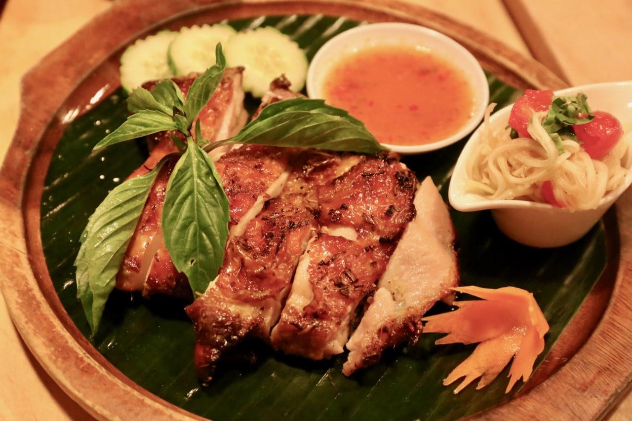 Lao BBQ Chicken Ping Gai at Sabai Sabai Toronto.