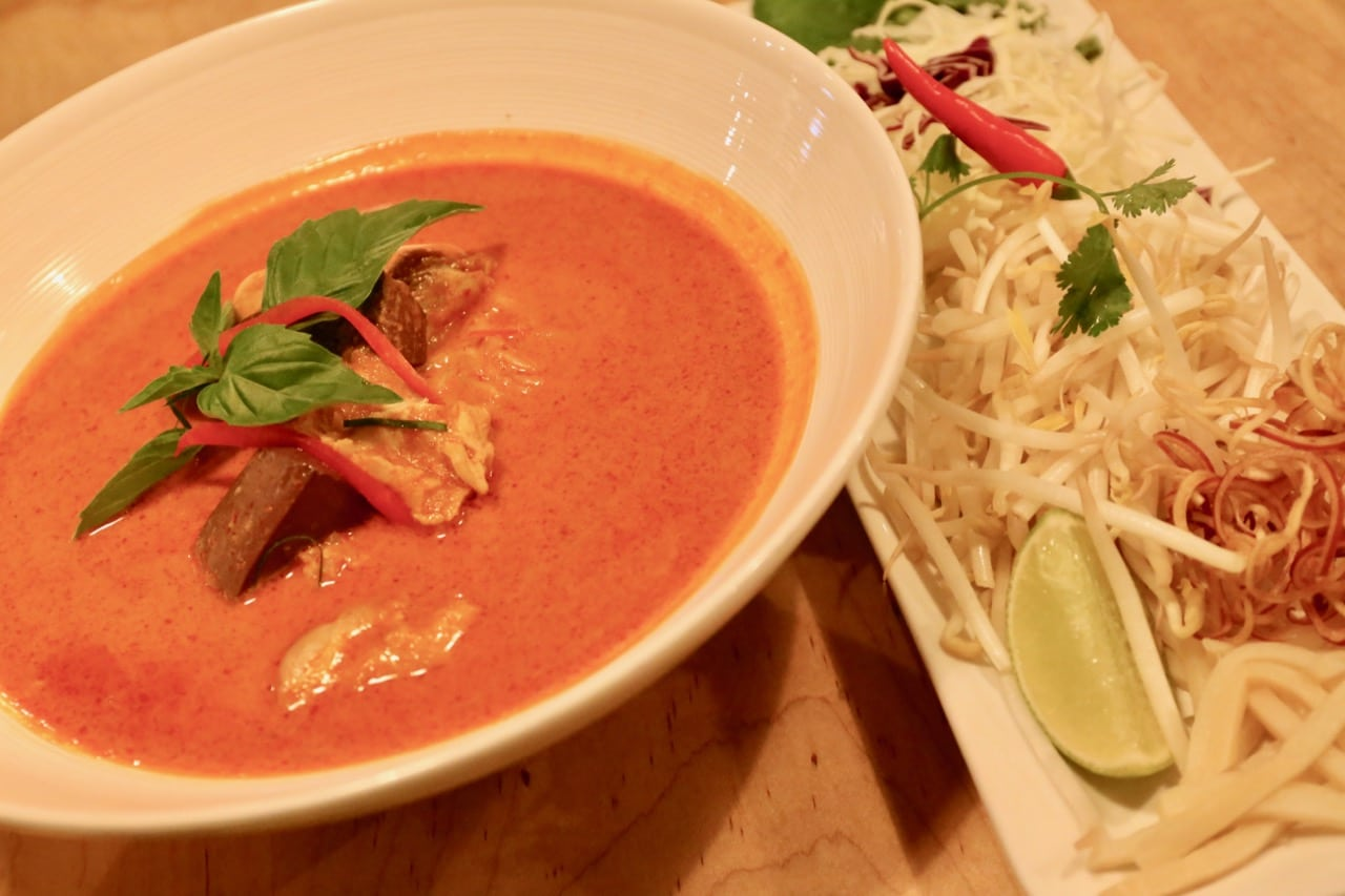Khao Poon is a rice noodle dish from Laos.