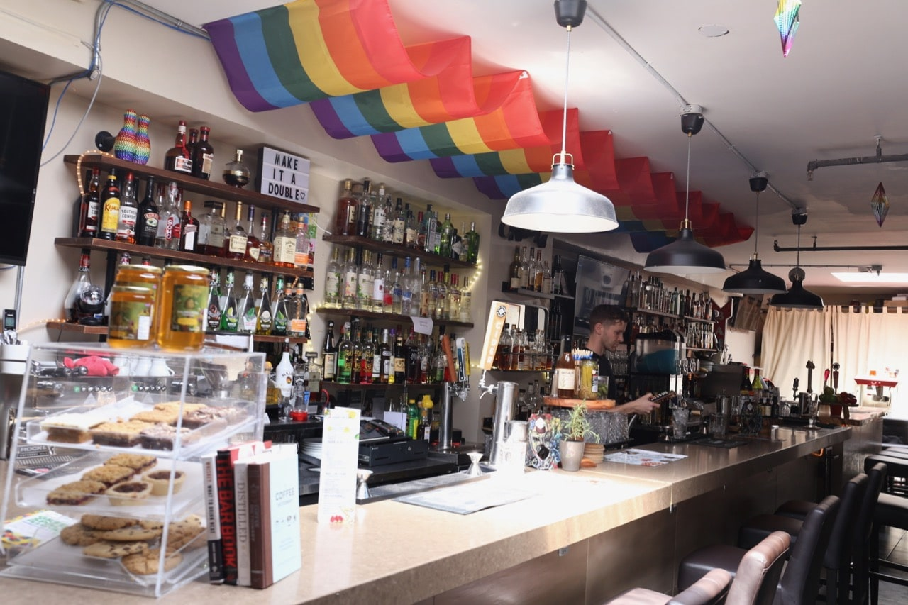 The Drink on Church Street is a cafe by day and gay bar by night.