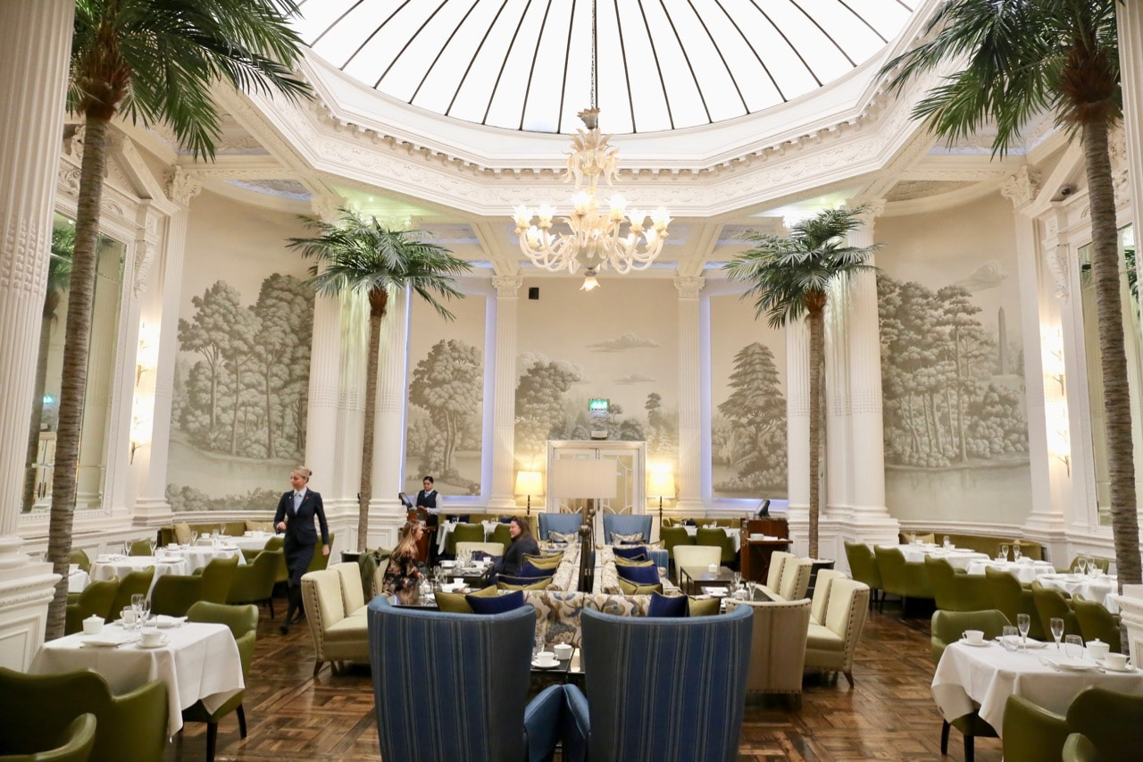 Balmoral Hotel Afternoon Tea takes place in the elegant Palm Court.
