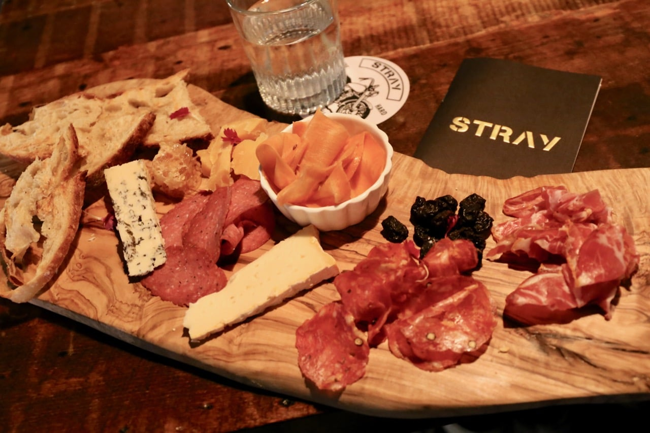 Cheese & Charcuterie Board at Bar Stray in Toronto.