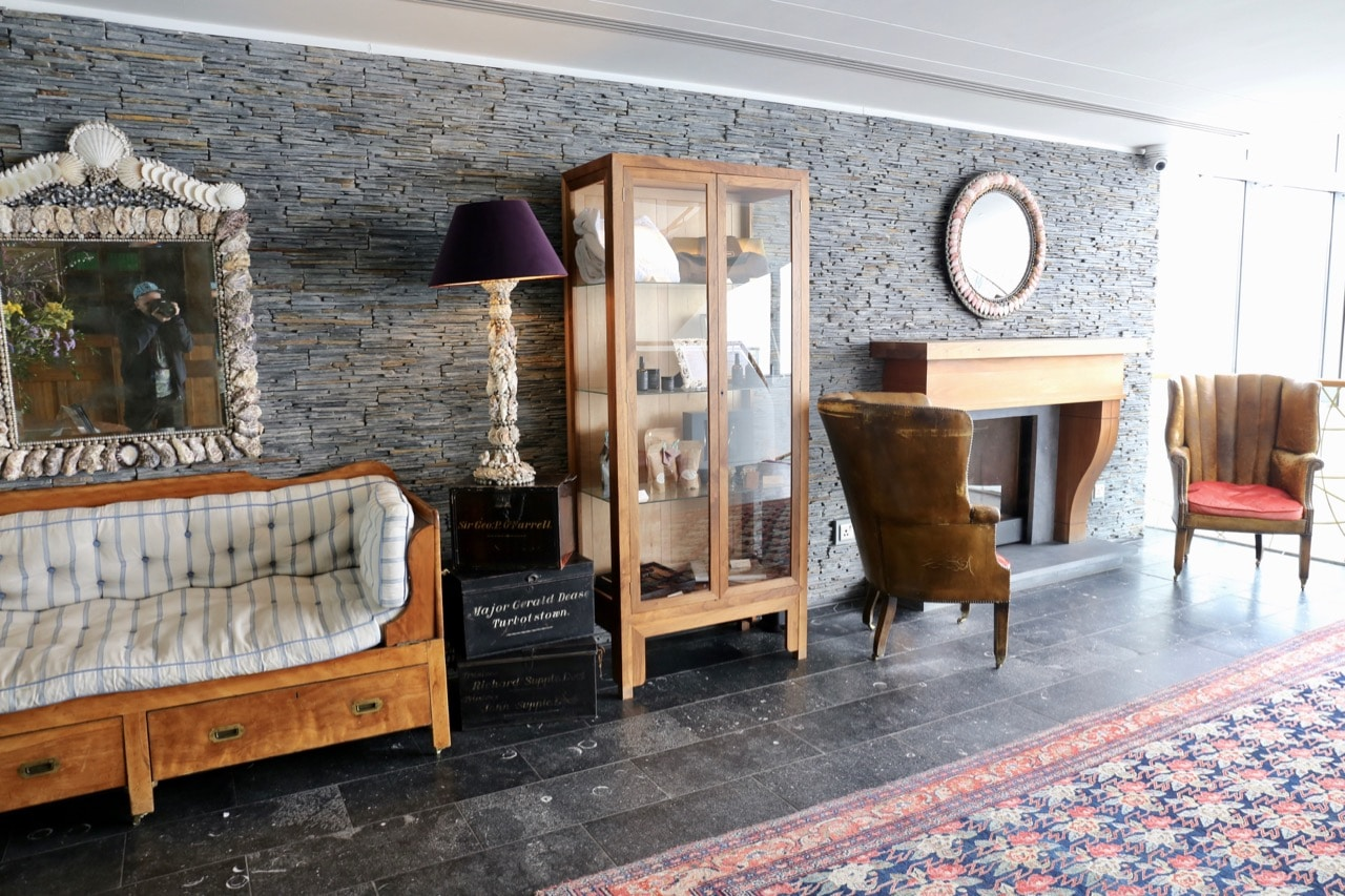 The lobby at Cliff House Ardmore, ranked as one of the best spa breaks in Ireland.