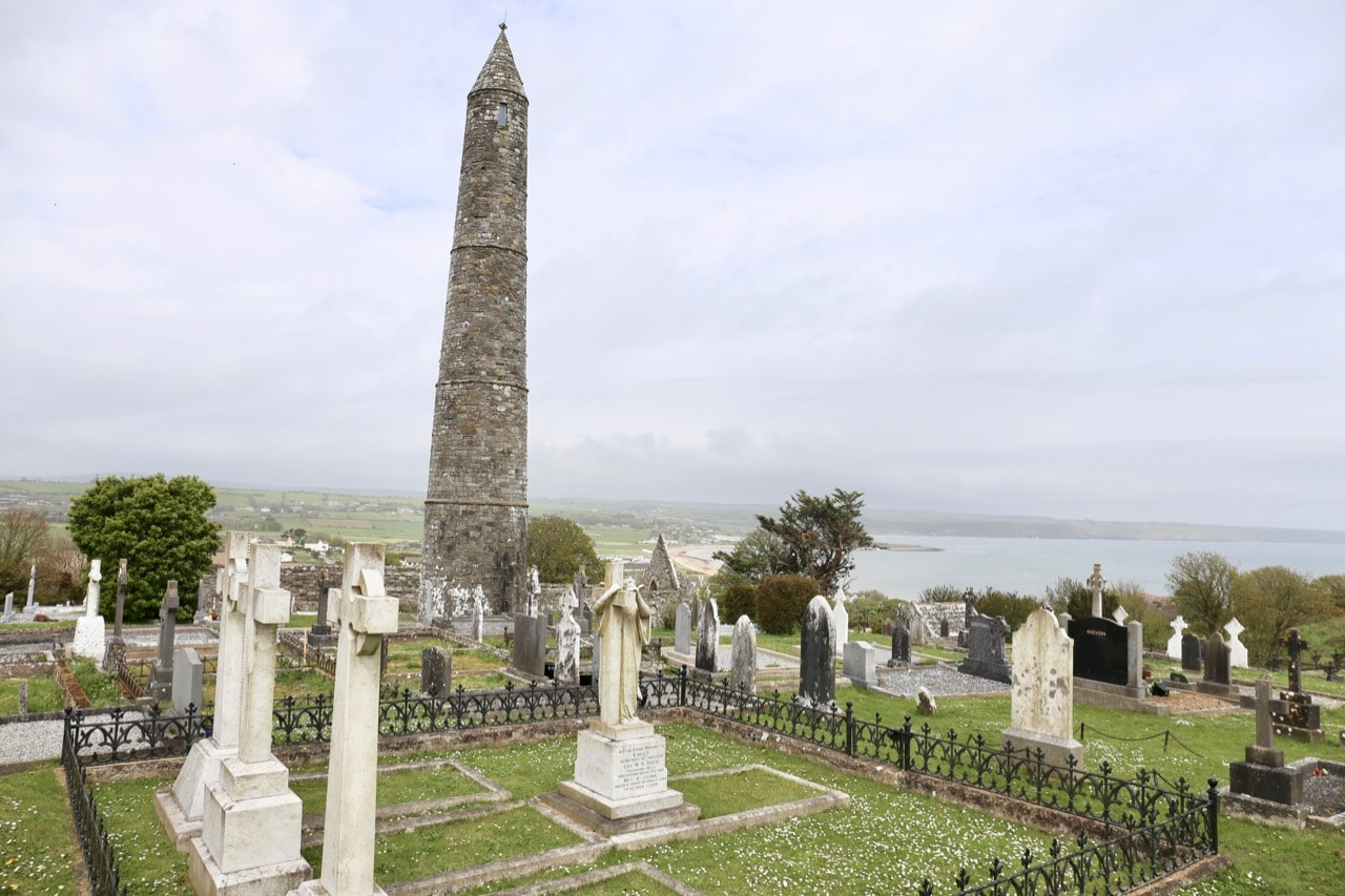 Finish your Ardmore Cliff Walk at the Round Tower and Cemetery.