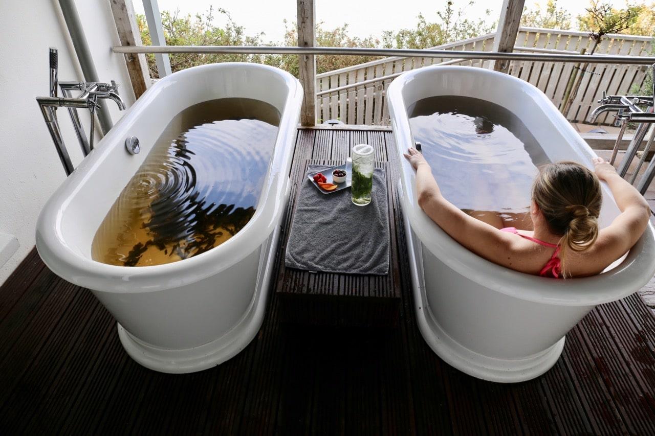 Indulge in Cliff House Ardmore's signature spa treatment, a therapeutic Irish seaweed soak.