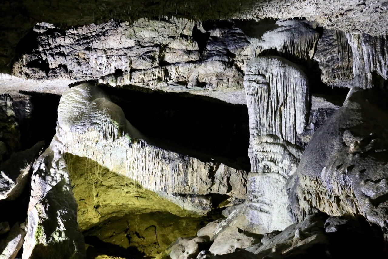 Dunmore Cave is an ancient geological site located a short drive north of the city.