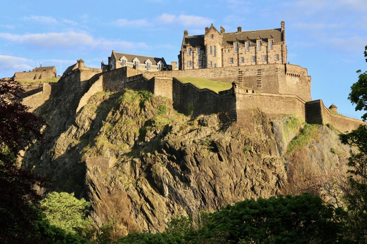 Watch the sunset over Edinburgh Castle from Princess Street.