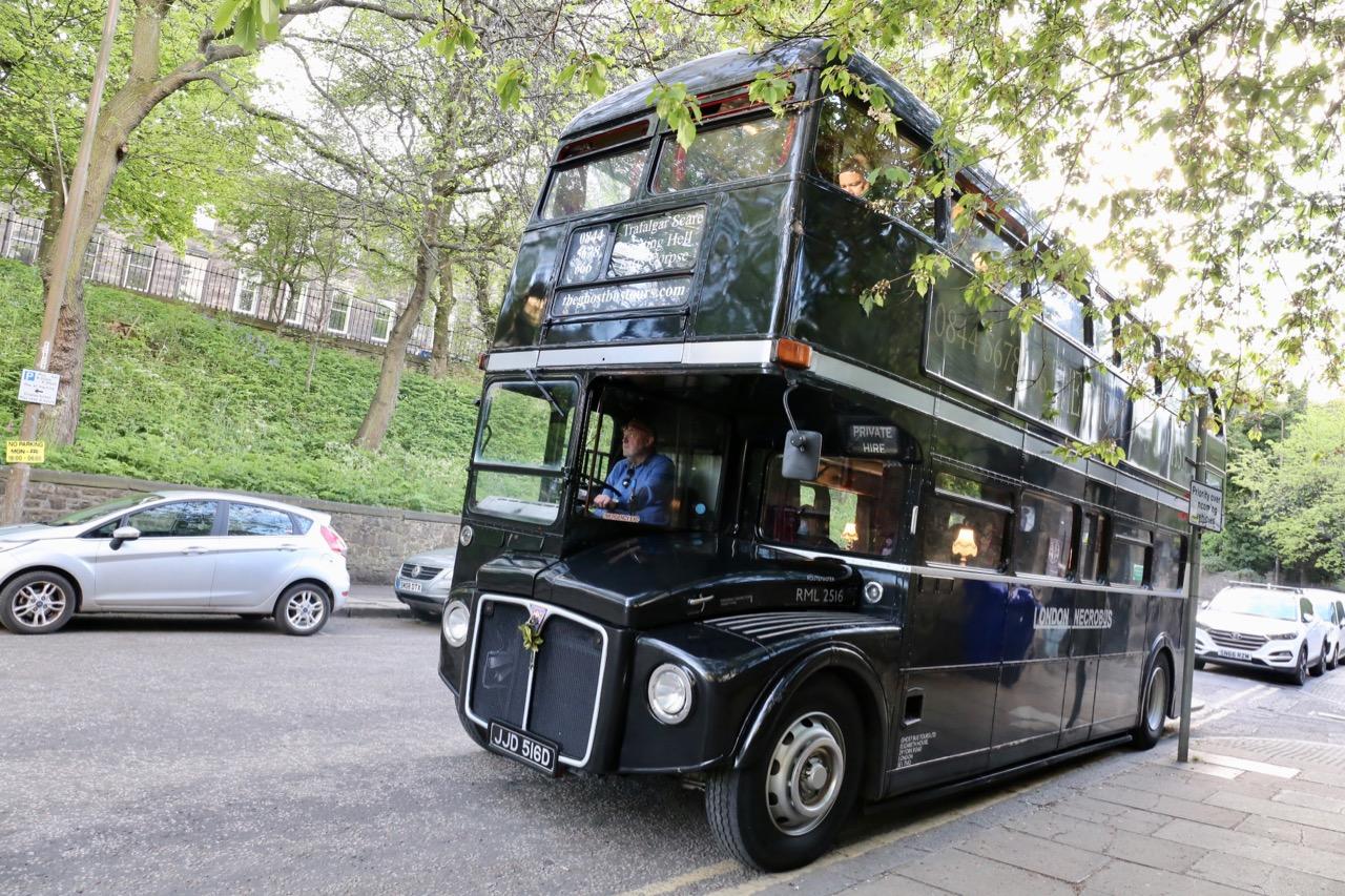 Haunted house fans enjoy late night thrills on Edinburgh Ghost Bus Tours.