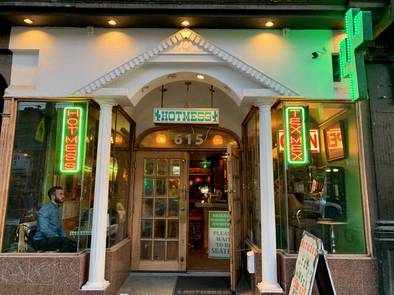 Hotmess Tex Mex is located on College Street in Little Italy.