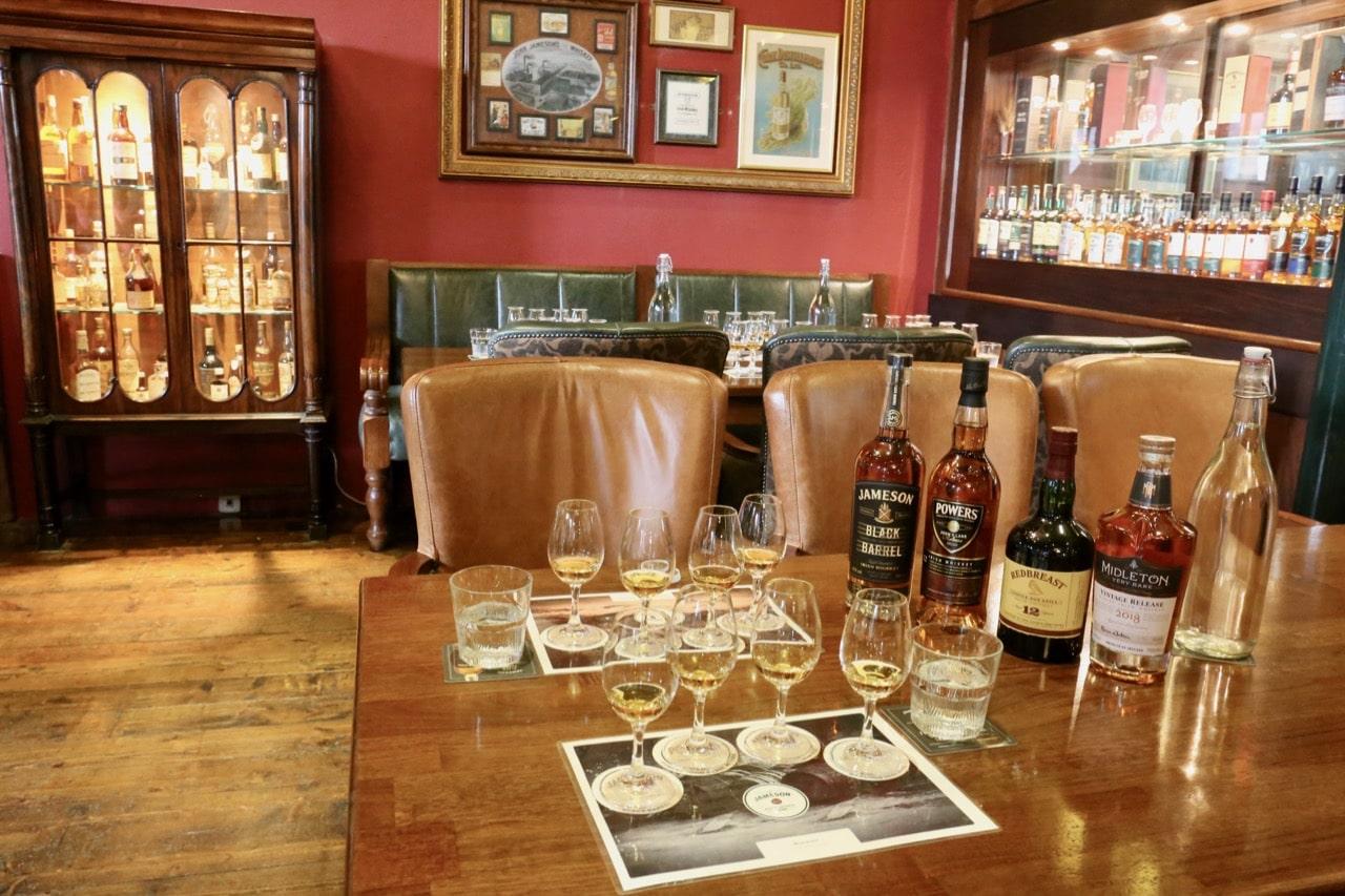 Enjoy a premium Irish whiskey tutored tasting at the Jameson Distillery bar.