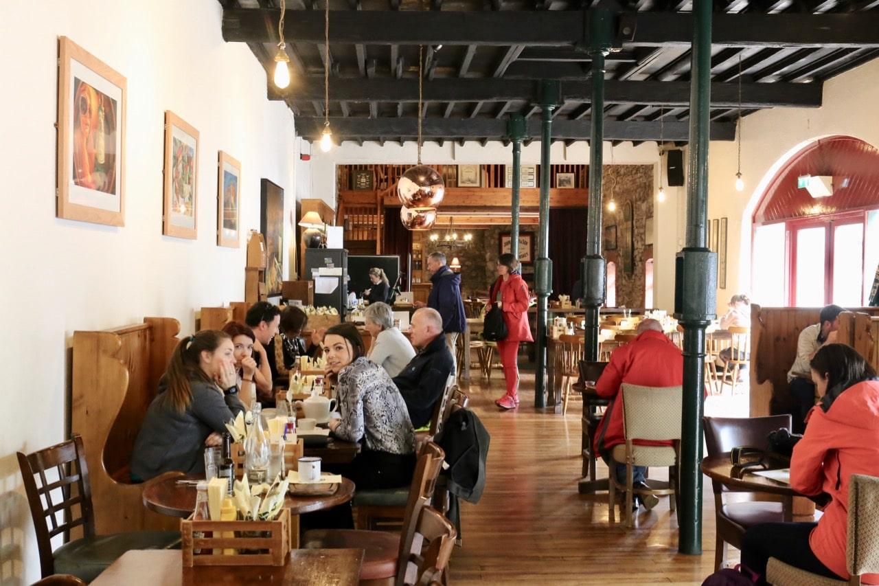 After sipping plenty of whiskey enjoy fine Irish feast at Malt-House Restaurant.