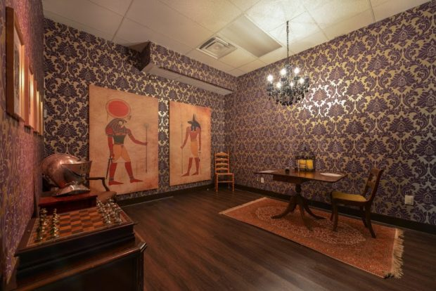 Toronto escape rooms: Egyptian vibes at Looking Glass Adventures.