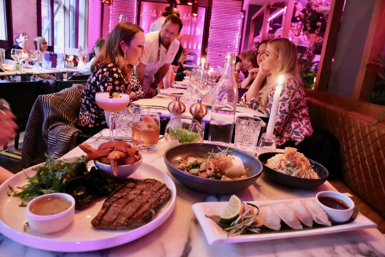 Enjoy cocktails and an Asian fusion feast at Tigerlily.