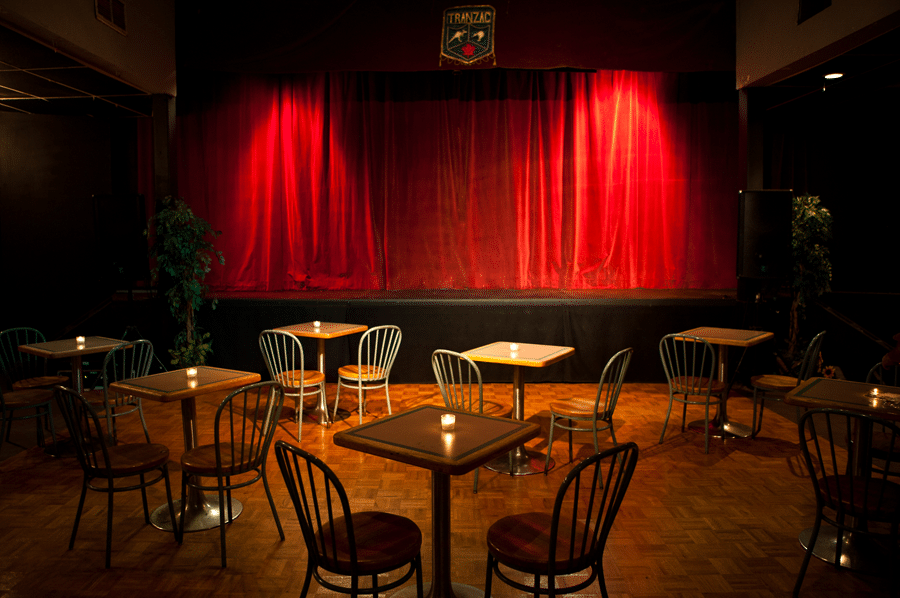 Live Music in Toronto: The main hall at The Tranzac Club.