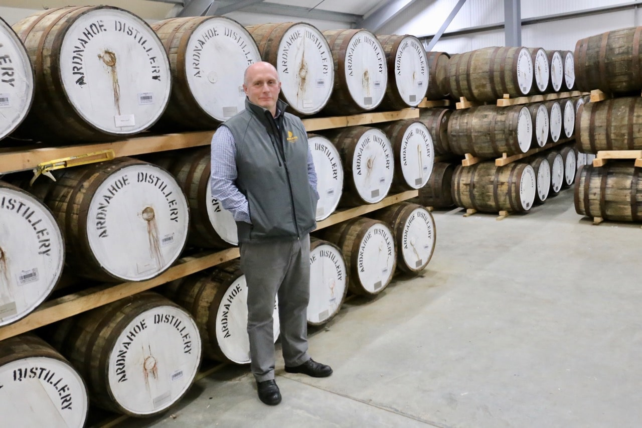 Ardnahoe's head distiller takes us on a tour of the barrel aging room.
