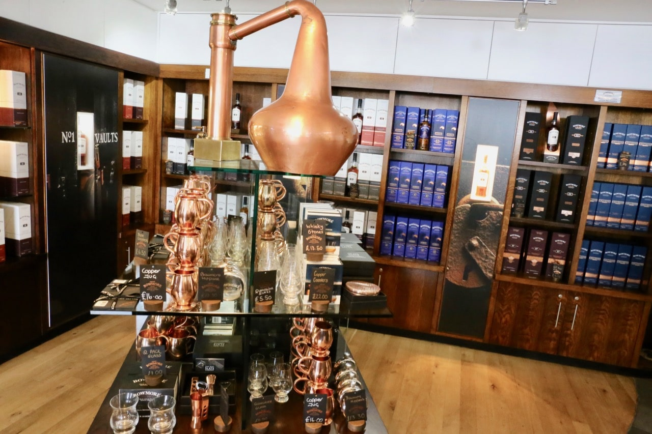 Take a stroll through Bowmore's gift shop.
