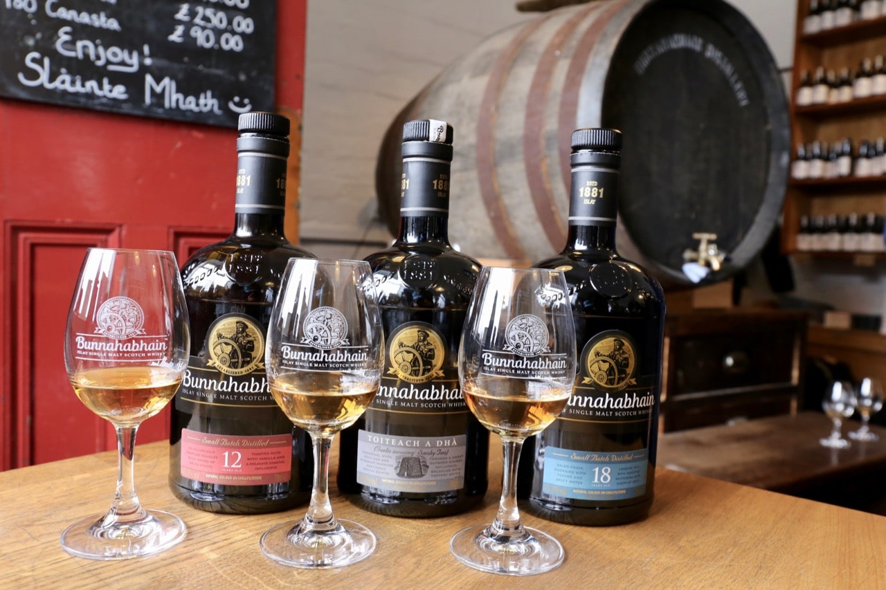An intimate single malt whisky tasting at Bunnahabhain Distillery.