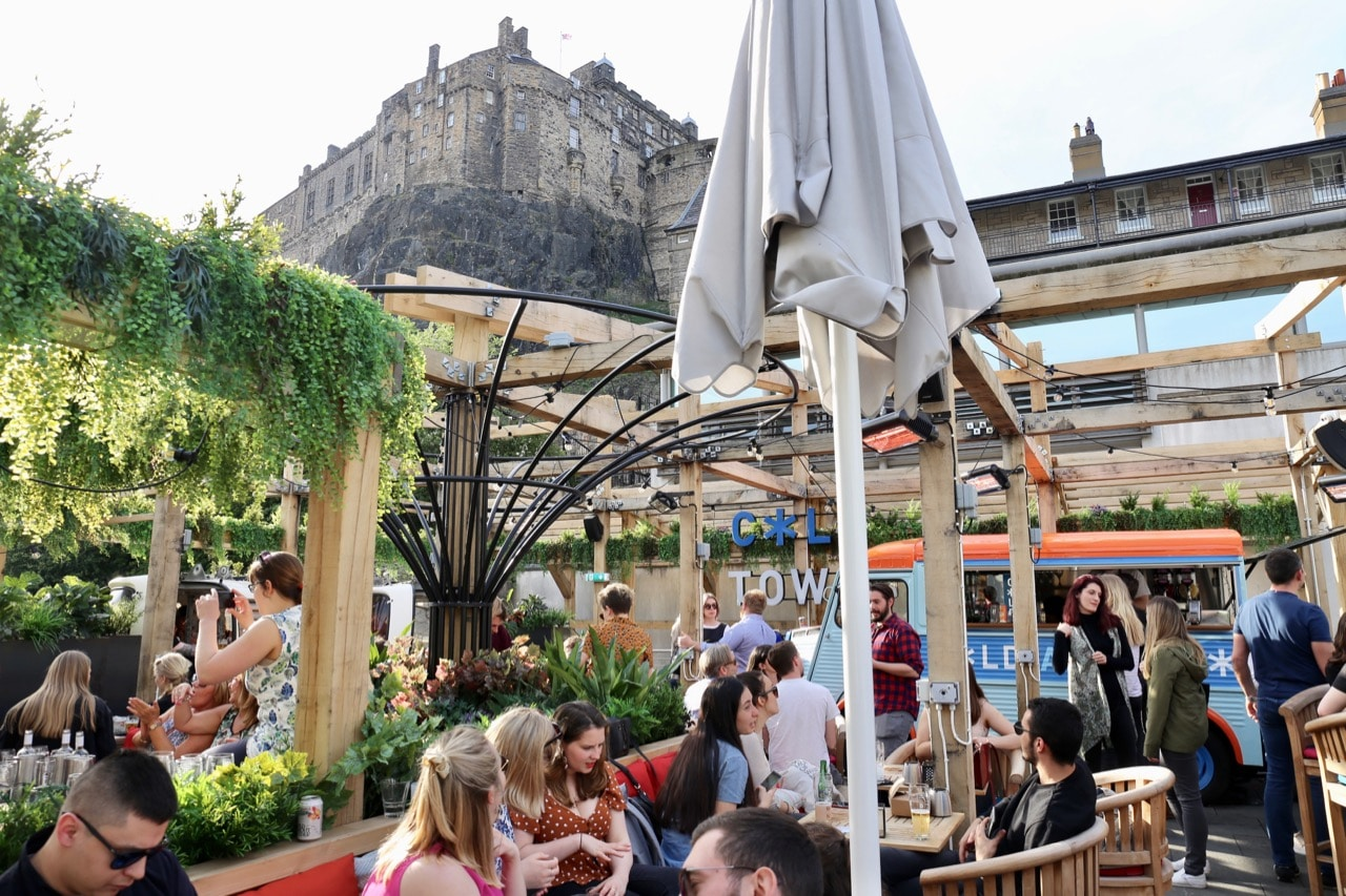 Cold Town Beer is Edinburgh's newest craft brewery featuring a rooftop patio under the city's iconic castle.