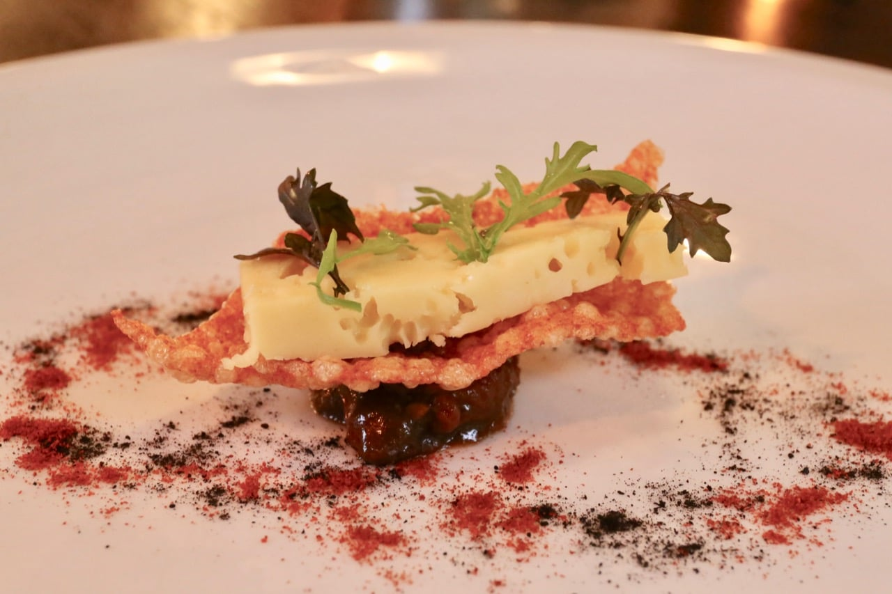 """Highland Fine Cheese """"Fat Cow"""" with Smoked Paprika and Tomato Chutney"""