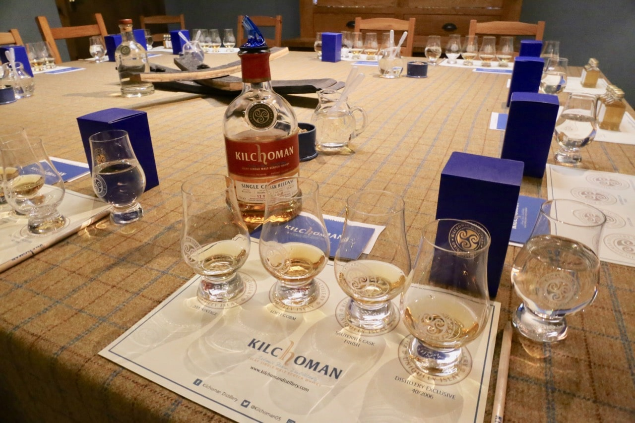 Finish your visit to Kilchoman Distillery with a tutored whisky tasting.