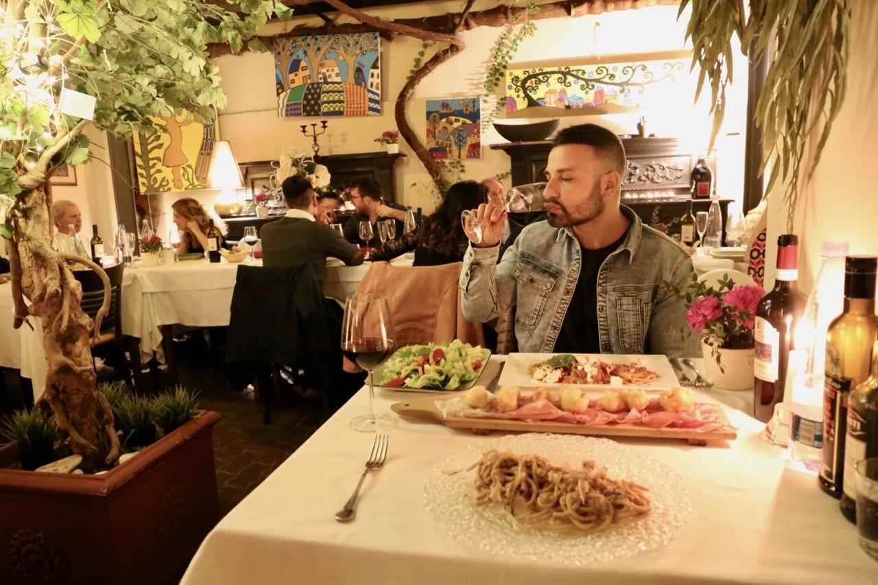 Pisa Attractions: Enjoy a fine dining Tuscan feast at La Pergoletta Restaurant.