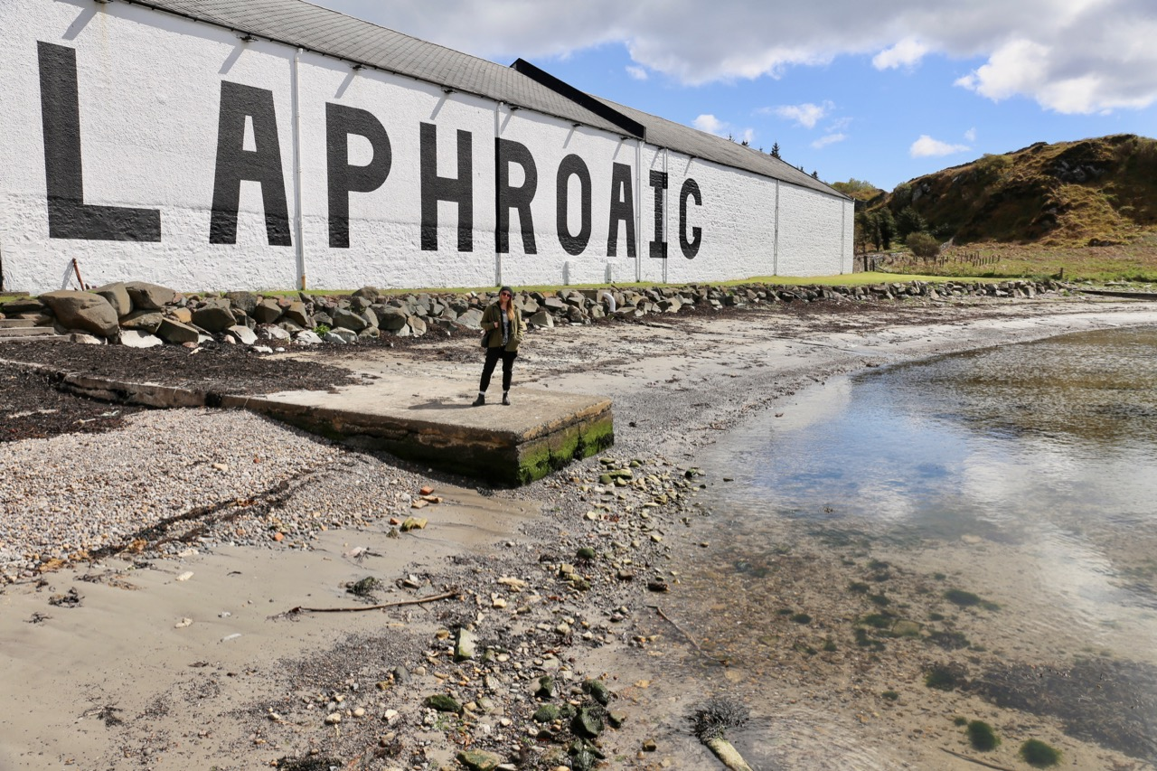 Laphroaig is the first distillery you'll encounter on the road from Port Ellen.