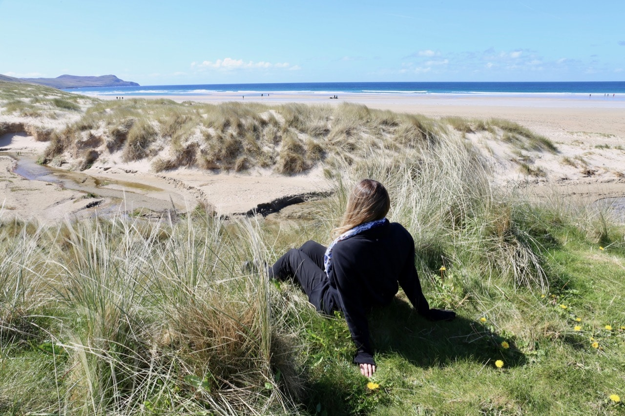 Enjoy a scenic walk on the beach at Machir Bay.