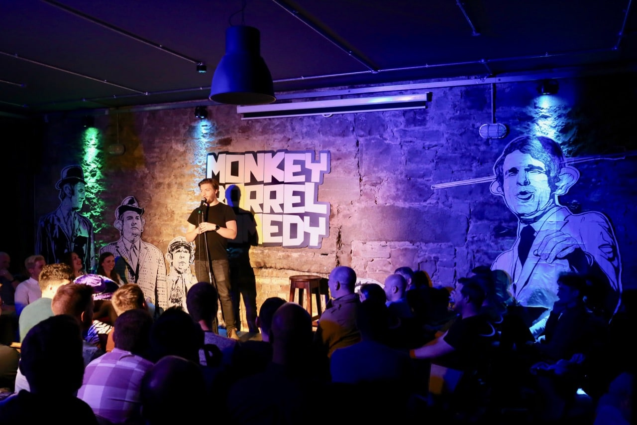 Things To Do in Edinburgh at Night: Fits of laughter at Monkey Barrel Comedy.