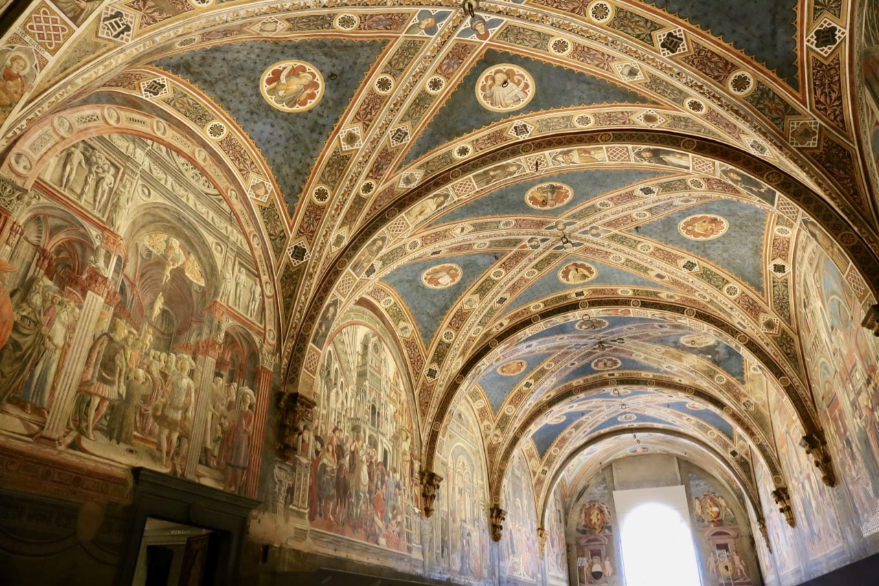 Things To Do in Siena: Marvel at the vaulted ceiling frescoes at Santa Maria della Scala.