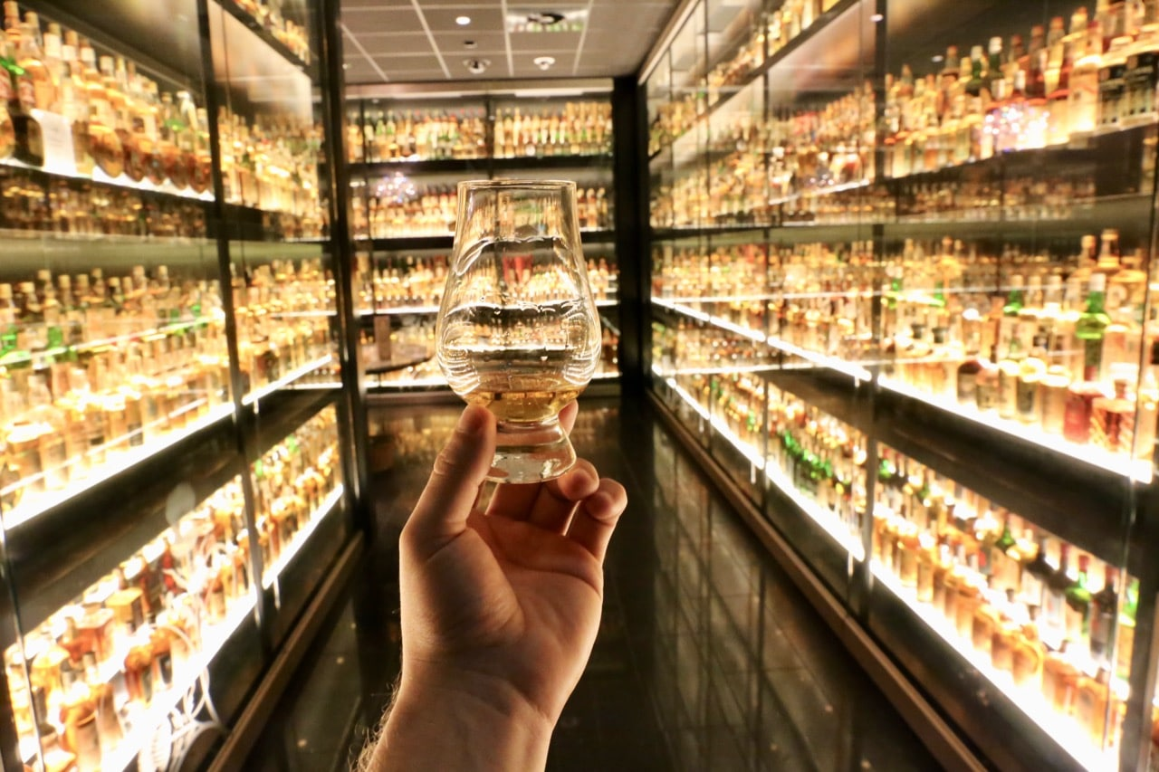 Start your evening by enjoying a sip at The Scotch Whisky Experience.