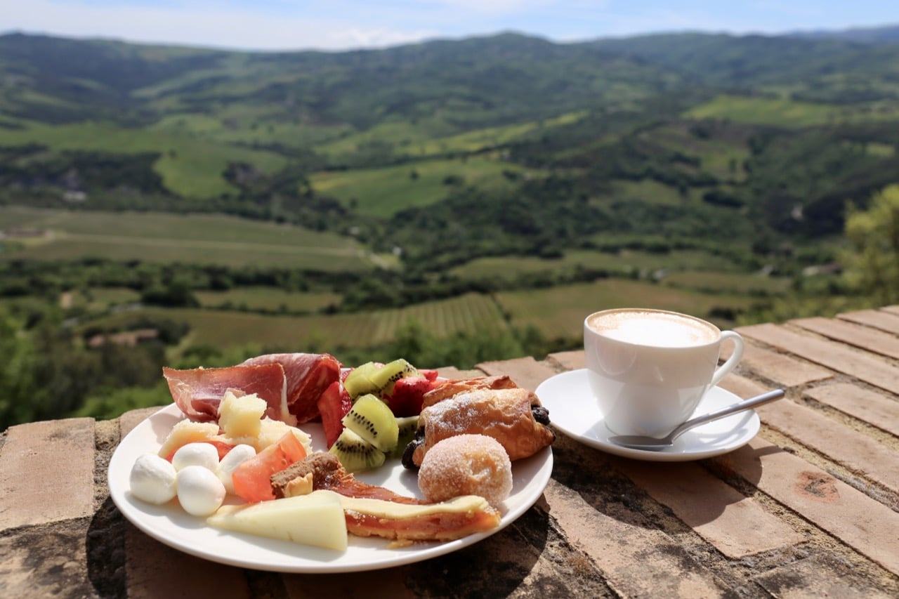 On a sunny morning enjoy breakfast on the hotel's restaurant patio, best paired with a wine country view!